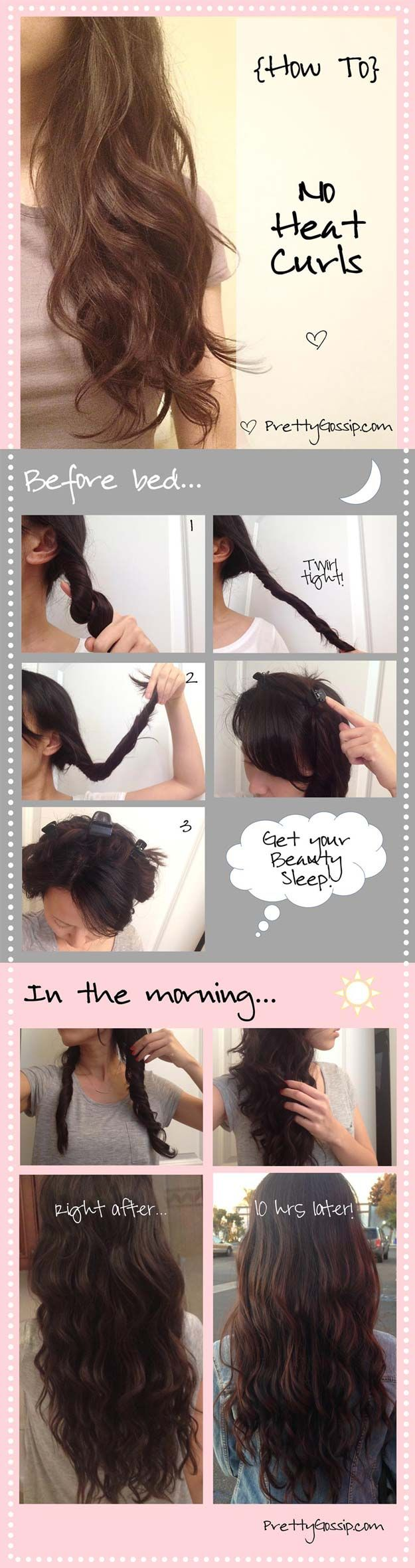 Easy Beachy Waves Tutorials for Hair - Get Beachy Waves with No Heat - DIY And E...