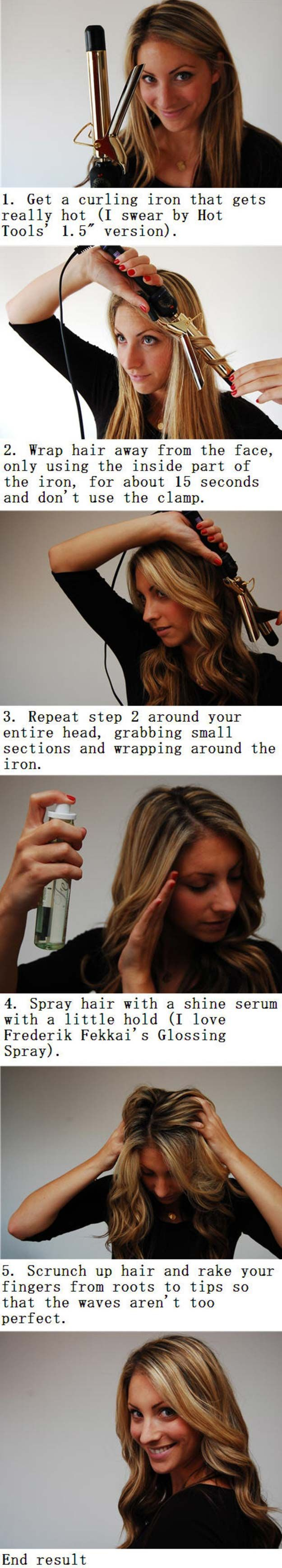 Easy Beachy Waves Tutorials for Hair - How To: Beachy Waves - DIY And Easy Step ...