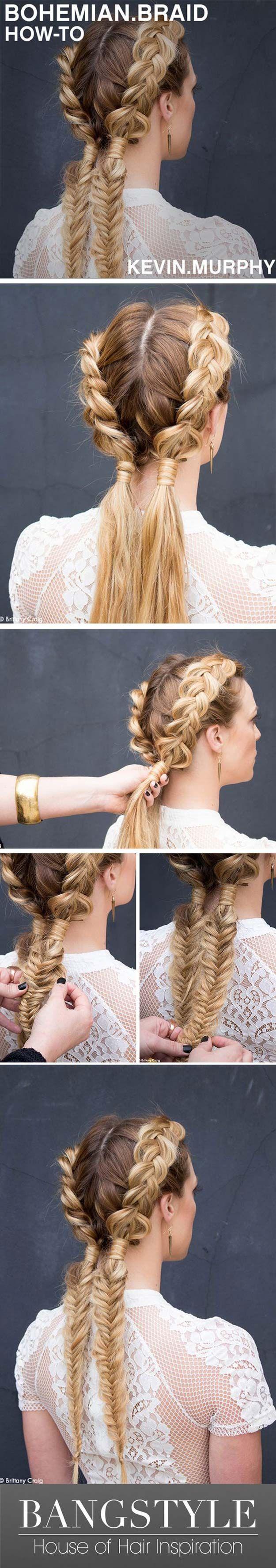 Festival Hair Tutorials - Bohemain Braid - Short Quick and Easy Tutorial Guides ...
