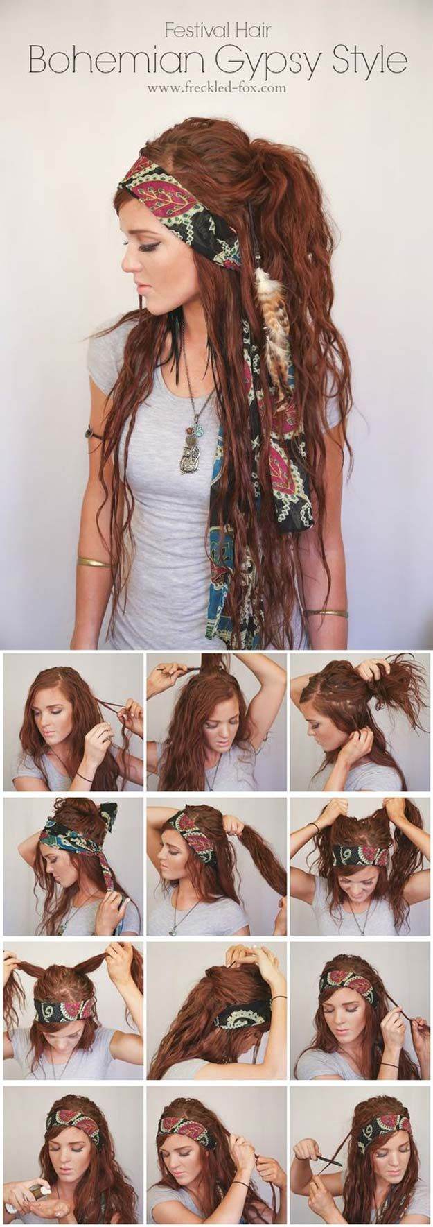 Festival Hair Tutorials - BOHEMIAN GYPSY STYLE - Short Quick and Easy Tutorial G...