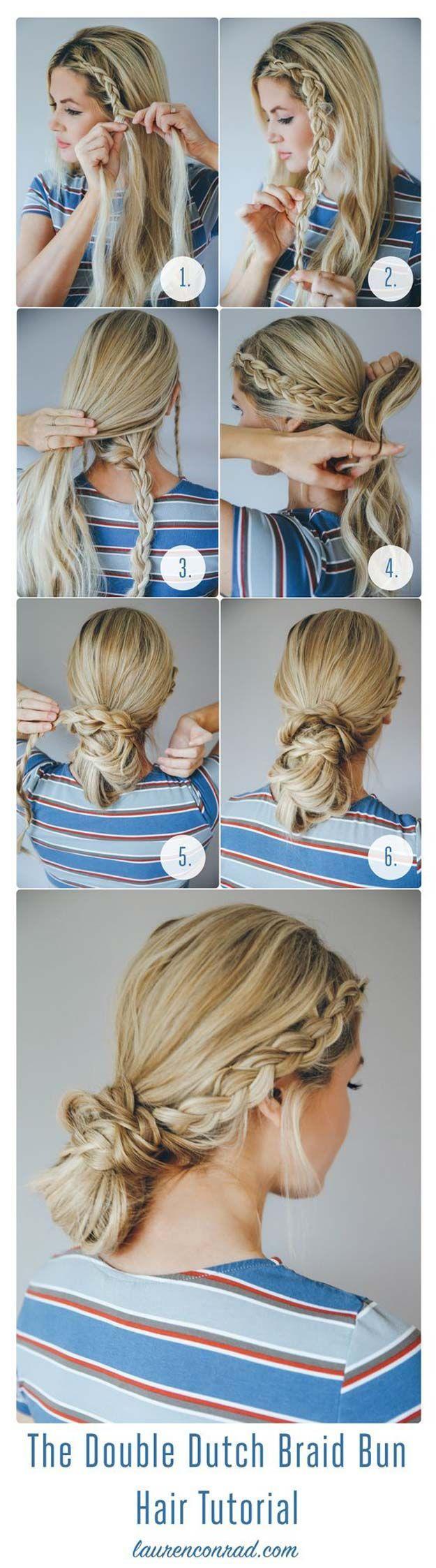 Festival Hair Tutorials - The Double Dutch Braid Bun - Short Quick and Easy Tuto...