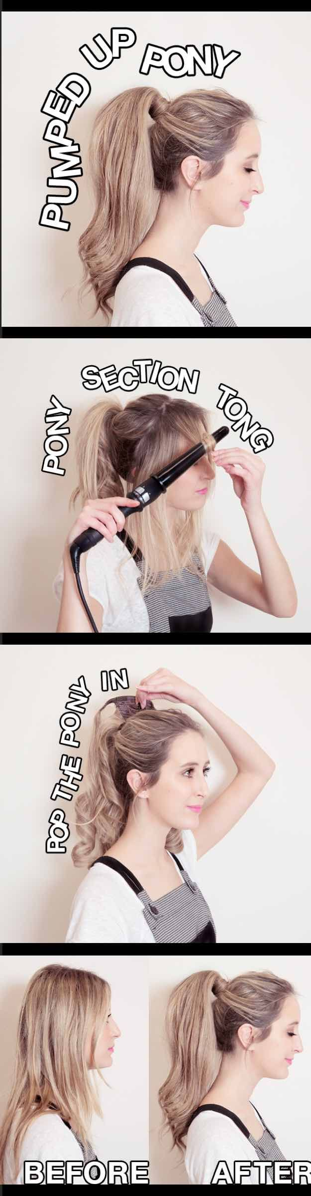 Glam Ponytail Tutorials - PONYTAIL HAIR EXTENSIONS- Simple Hairstyles and Pony T...