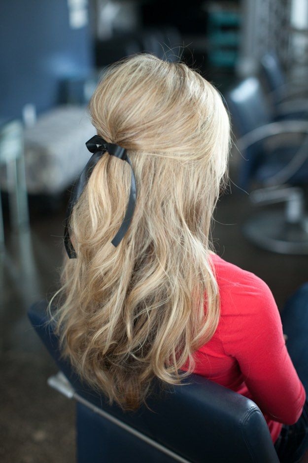 Half Up and Half Down Hairstyles for Prom -PUT A BOW ON IT -Hairdos and Updo&#39...