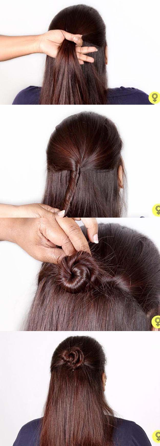 Half Up and Half Down Hairstyles for Prom - The Half-Updo: A Step By Step Tutori...