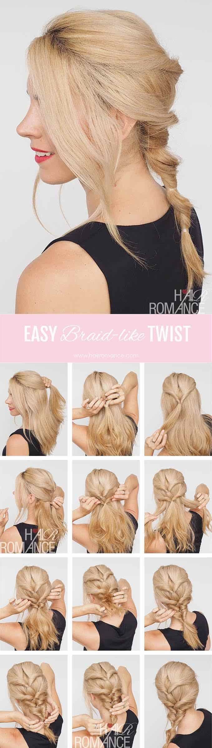 Half Up and Half Down Hairstyles for Prom - THE TWIST BRAID HAIRSTYLE TUTORIAL T...