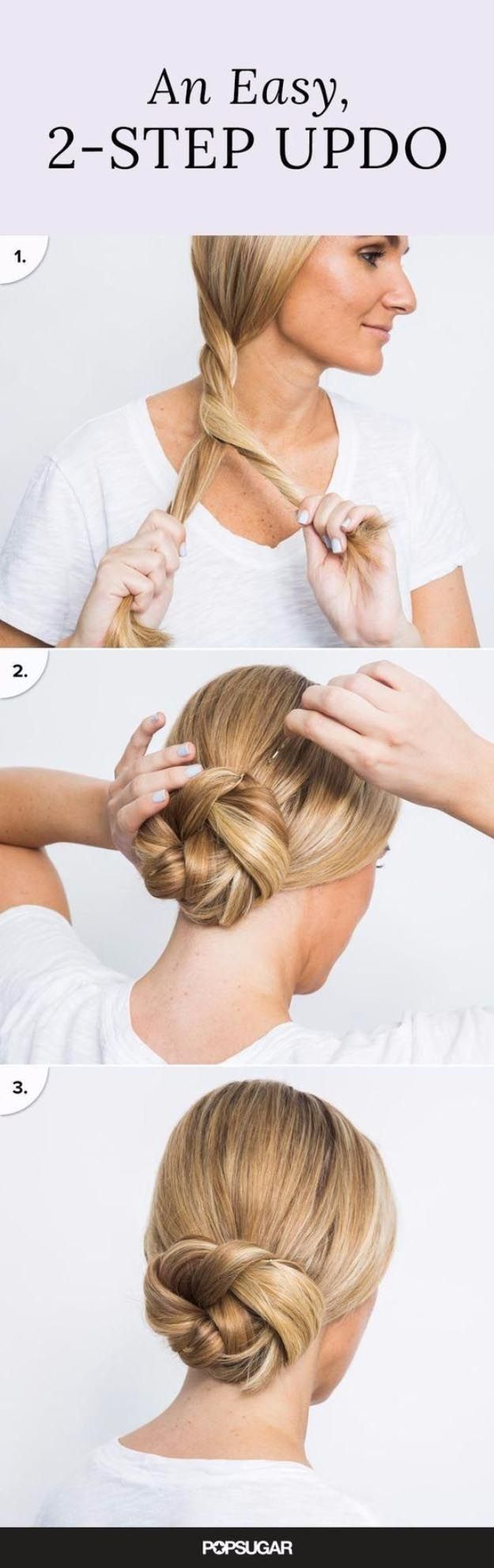 Long Hair Styles for 2017 - An Easy, 2-Step Updo- Easy Tutorials for Long Hairst...