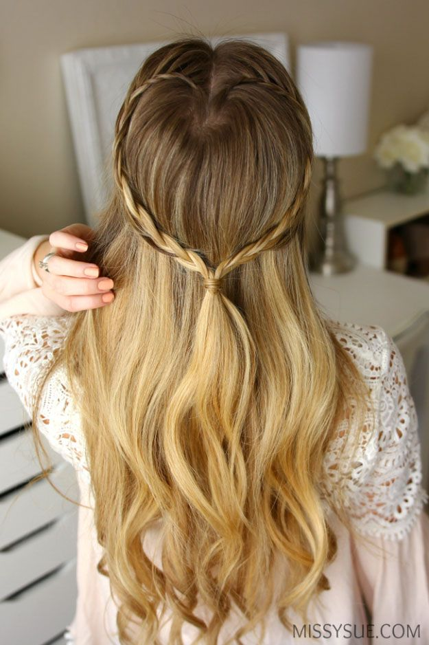 Quick And Easy Hairstyles For School Long Hair Styles For 2017 Braided Heart Easy Tutorials For Long Hairstyles Wi Beauty Haircut Home Of Hairstyle Ideas Inspiration Hair Colours Haircuts Trends