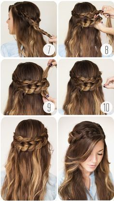 nice 9 Step By Step Hairstyles Perfect For School. Quick, Easy, Cute  and Simple...