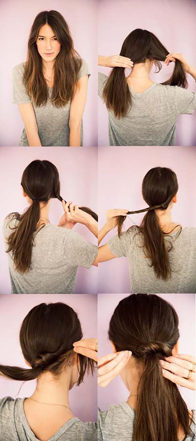 Quick and Easy Hairstyles for Straight Hair - Ponytail Twist - Popular Haircuts ...