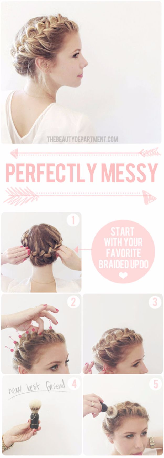 Quick and Easy Updo Hairstyles - Cute Updo - Hair Hacks And Popular Haircuts For...