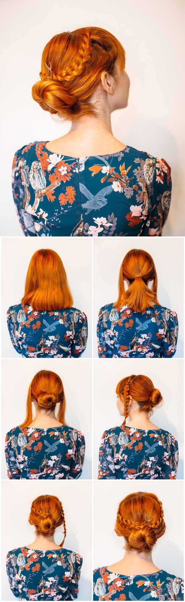 Super Sexy Hairstyles- Easy Criss Cross Braided Bun - Easy Hair Styles For Long ...