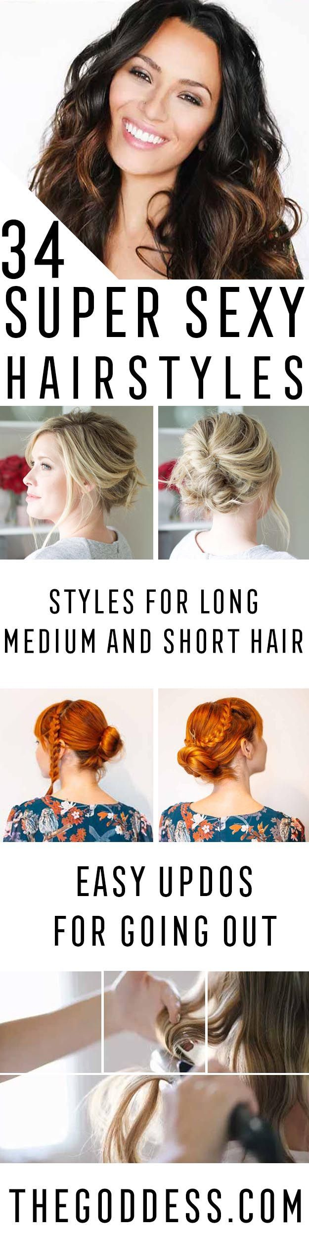 Super Sexy Hairstyles - Easy Hair Styles For Long Hair, Medium Hair, And For Goi...