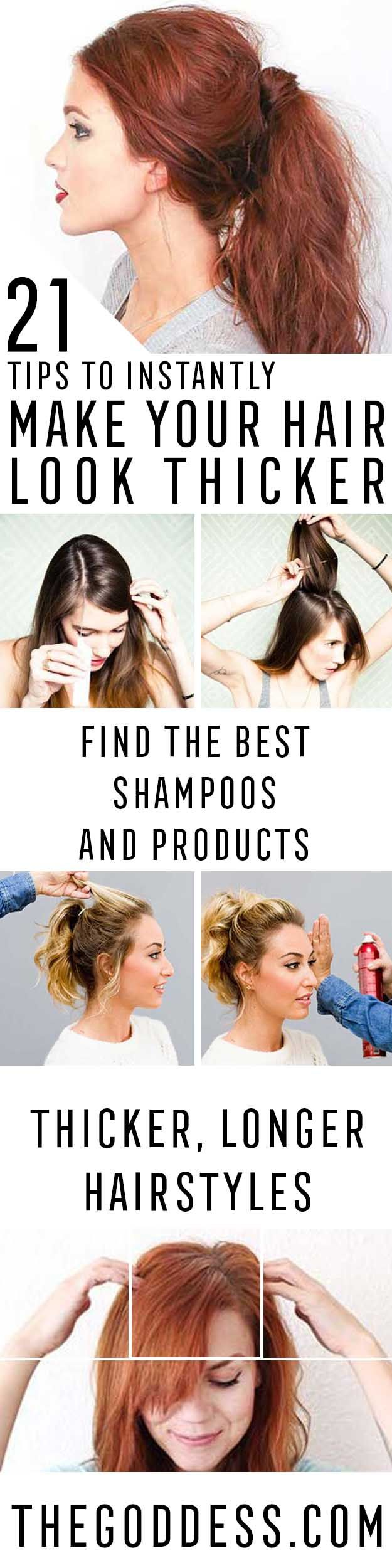 Tips To Instantly Make Your Hair Look Thicker - DIY Products, Step By Step Tutor...