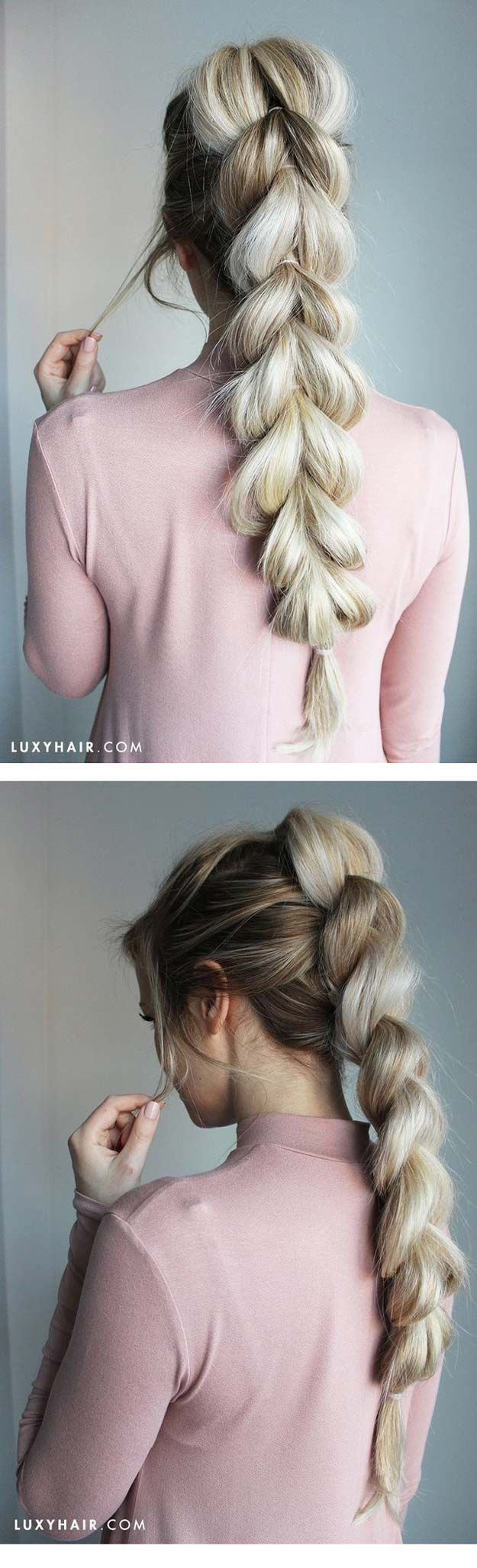 Tips To Instantly Make Your Hair Look Thicker - How To: Pull-Through Braid Easy ...