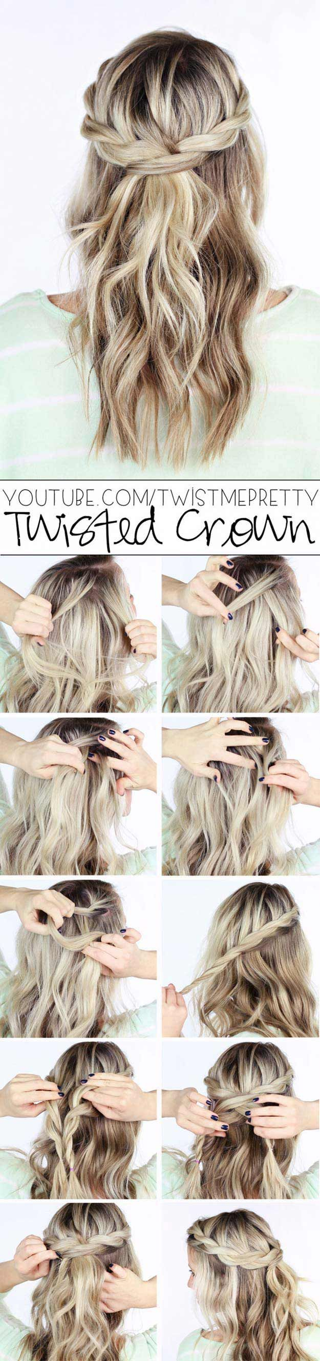 Tips To Instantly Make Your Hair Look Thicker - How To: Pull-Through BraidTwiste...