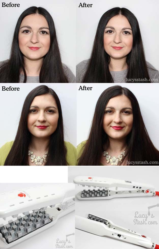 Tips To Instantly Make Your Hair Look Thicker - How To Use A Voloom Iron To Add ...