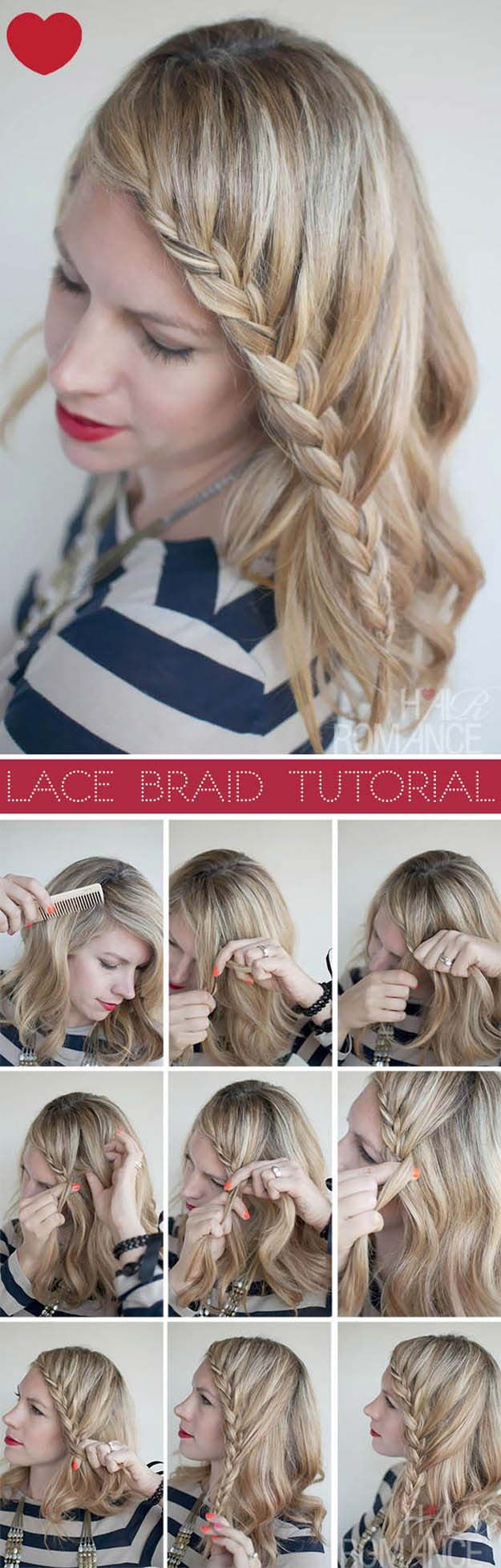 Tips To Instantly Make Your Hair Look Thicker - Lace Braid Hairstyle Tutorial - ...