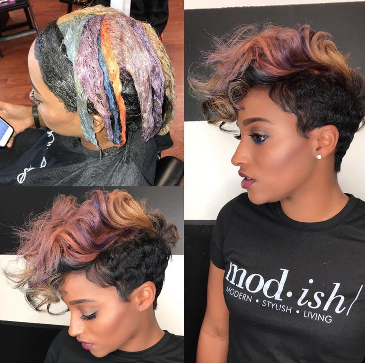 Beautiful color via Kisha Jefferson - blackhairinformat...