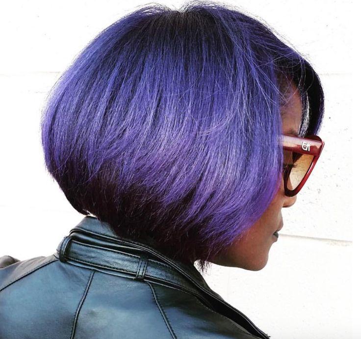 Beautiful purple bob via @salonchristol - blackhairinformat...