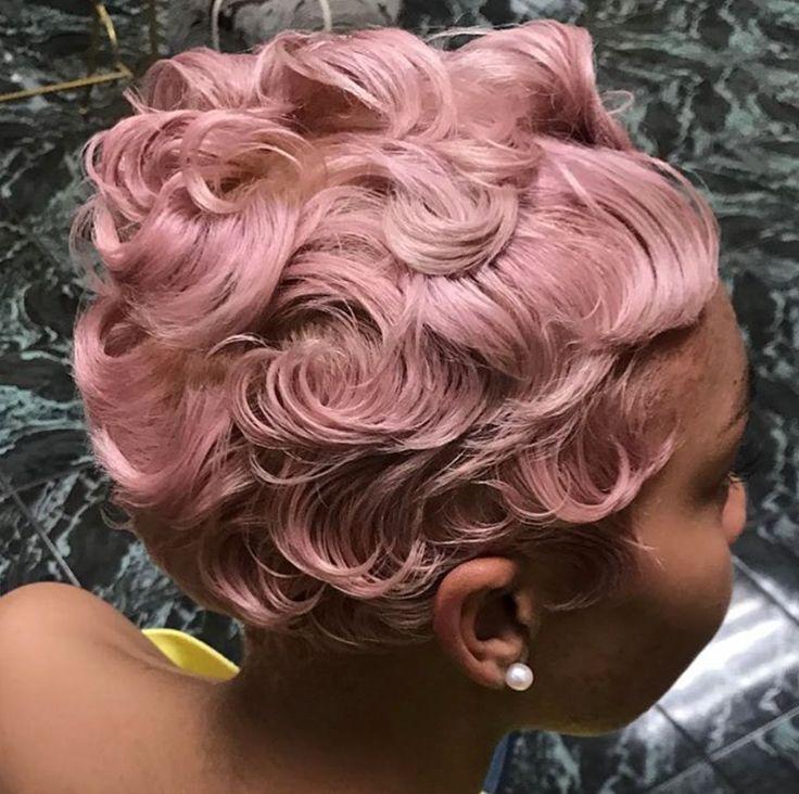 Bold pastel pink via @salonchristol - blackhairinformat...