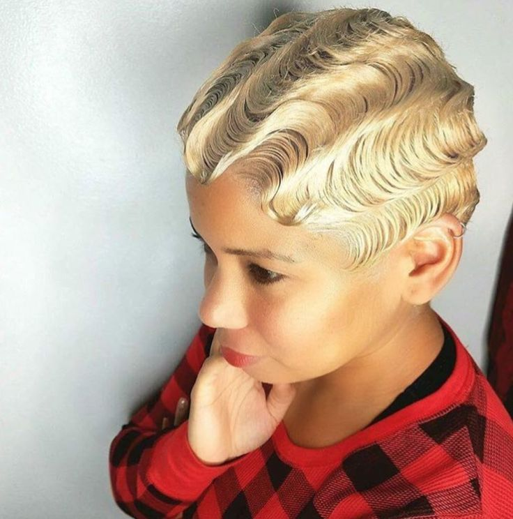 Clean finger waves by @tamarakelly_hairstylist - blackhairinformat...