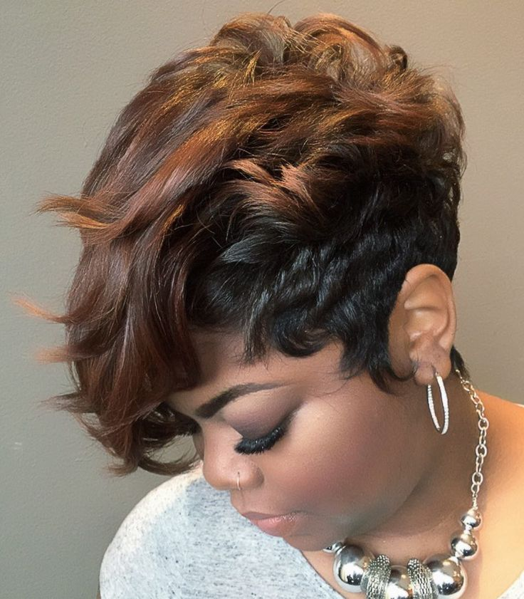 Cute pixie by @stylesbychristina82 - blackhairinformat...