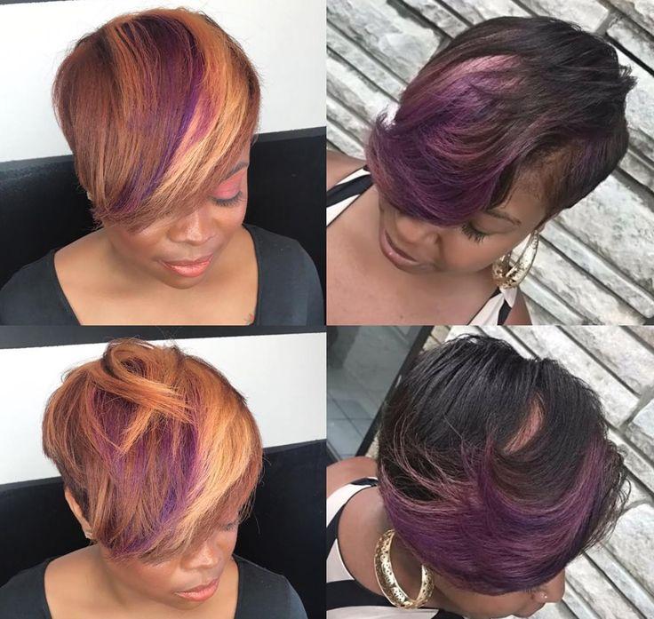 Dope cut and color by Kisha Jefferson - blackhairinformat...
