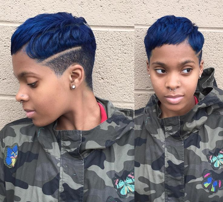 Edgy cut and color by @salonchristol - blackhairinformat...