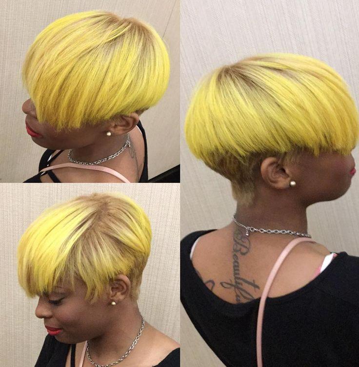 Edgy yellow Kisha Jefferson - blackhairinformat...