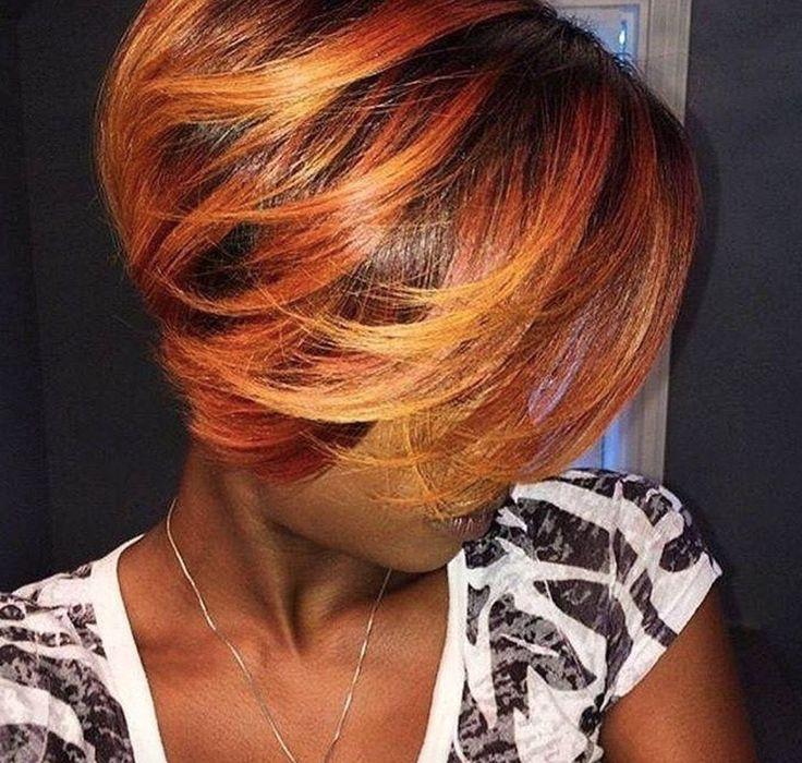 Fall color via @1hairperfection - blackhairinformat...