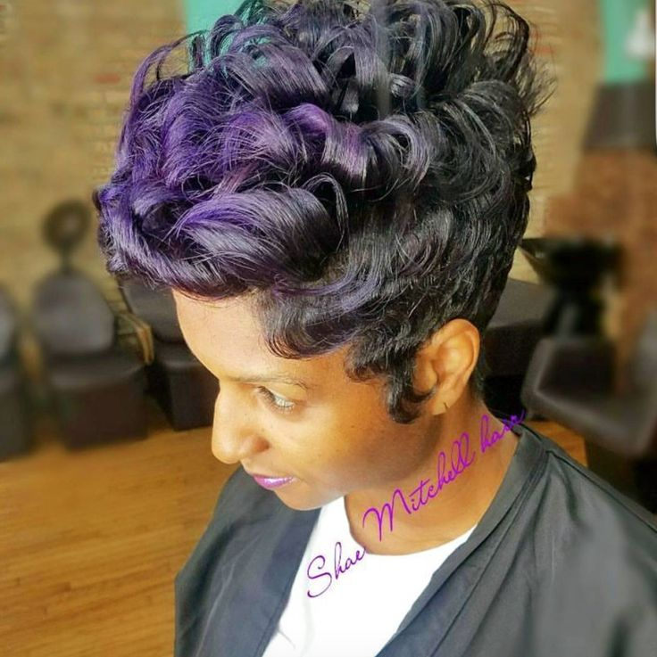 Love this subtle pop of purple via @shaemzhairnurse - blackhairinformat...