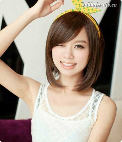 15 Best Bob Cut Hairstyles for Round Faces - 11 #BobHaircuts
