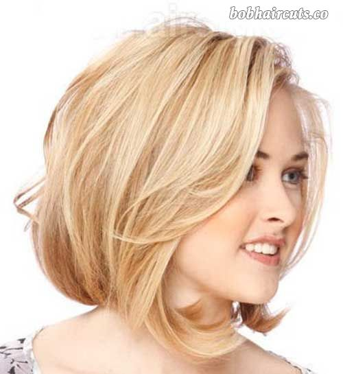 15 Best Bob Cut Hairstyles for Round Faces #BobHaircuts