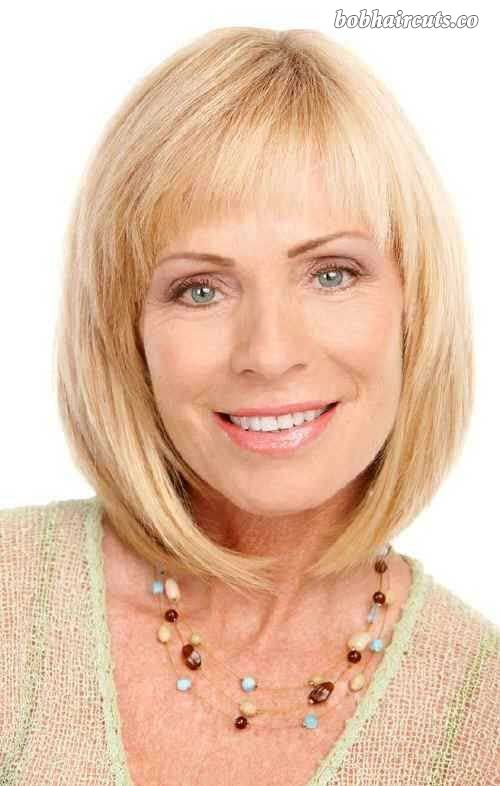 15 Bob Hairstyles for Women Over 50 #BobHaircuts