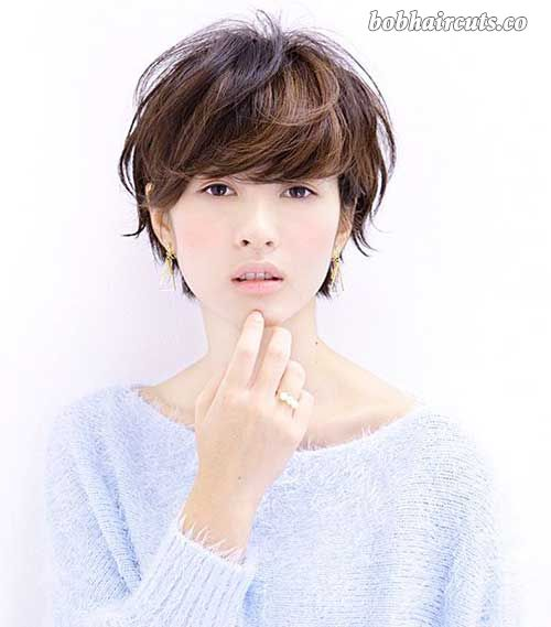 20 Best Short Hair with Bangs #BobHaircuts