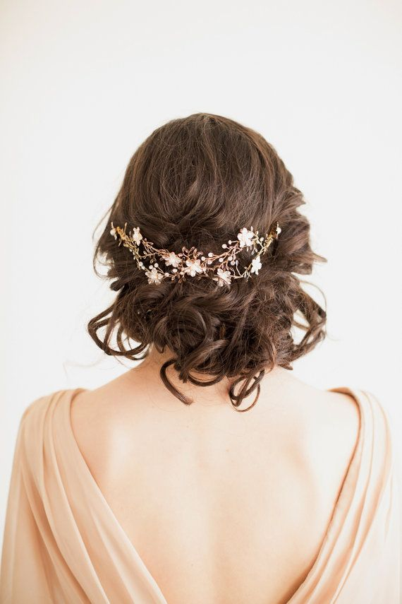 Bridal Hair Accessory, Crystal Hair Swag, Wedding Hair Vine, Bridal Headpiece