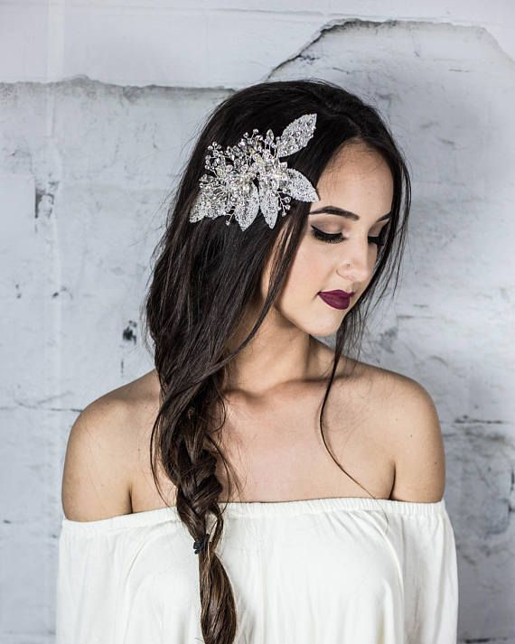 Bridal hair clip, Pearl Decorative Comb, Bridal Headpiece, Bridal Hair Jewelry, ...