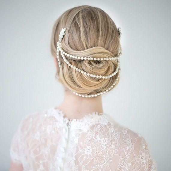 Bridal Hair Accessory, Pearl Hair Accessory, wedding Head Piece