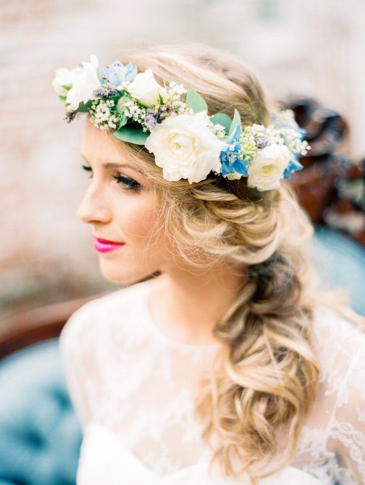 Featured Photographer: Best Photography; Wedding hairstyle idea.