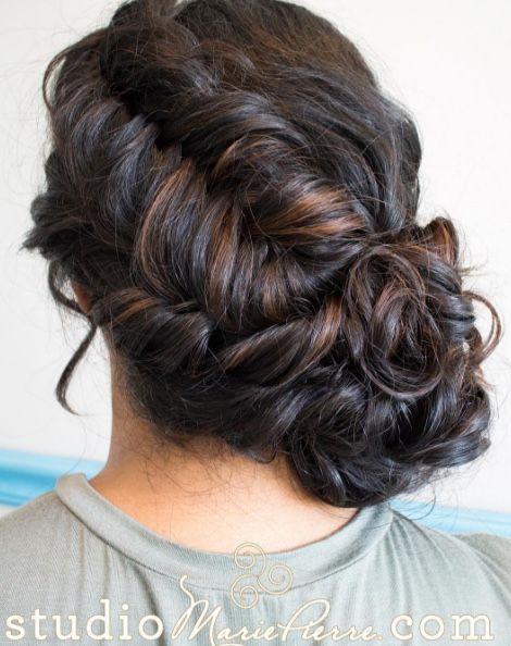 Featured Hairstyle:Studio Marie-Pierre;www.studiomariepierre.com; Wedding ha...