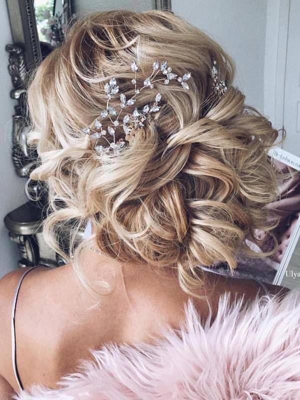 Ulyana Aster Long Wedding Hairstyles & Wedding Updos | Deer Pearl Flowers