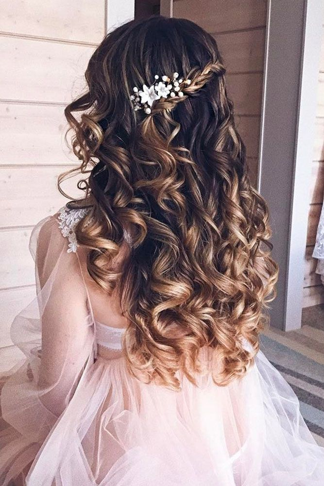 30 Exquisite Wedding Hairstyles With Hair Down ❤ See more: www.weddingforwar.....