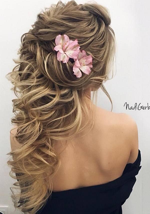 40 Stuning Long Curly Wedding Hairstyles from Nadi Gerber   Deer Pearl Flowers -...