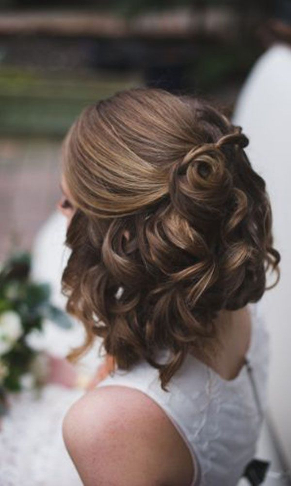 Great wedding hairstyle for short hair. Great for a classy or modern wedding. ww...
