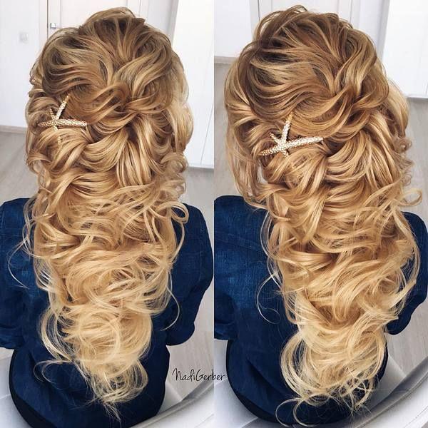40 Stuning Long Curly Wedding Hairstyles from Nadi Gerber | Deer Pearl Flowers /...