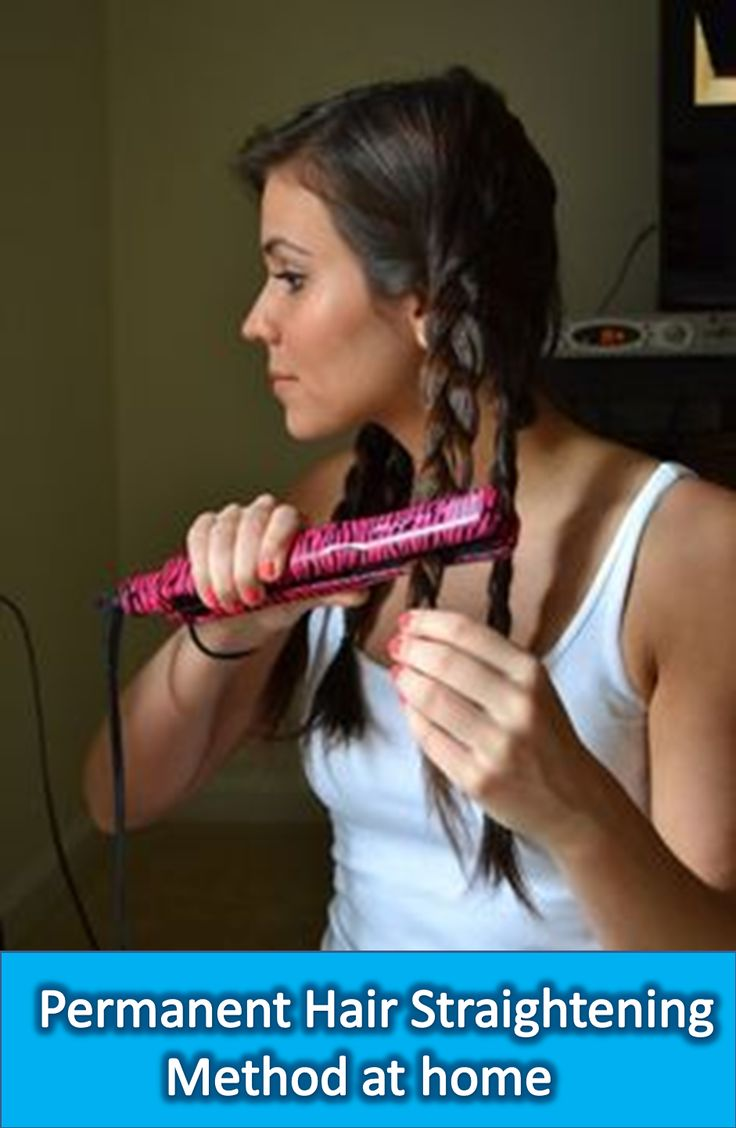 For permanent hair straightening, buy ingredients; mix the ingredients following...