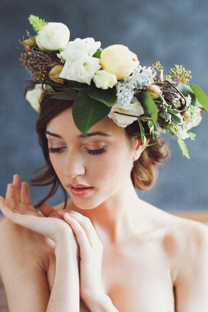 30 Unforgettable Wedding Hairstyles With Flowers ❤ See more: www.weddingforwar...