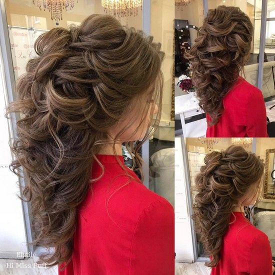 Long Wedding Hairstyles from Elstile /  / www.himisspuff.co...