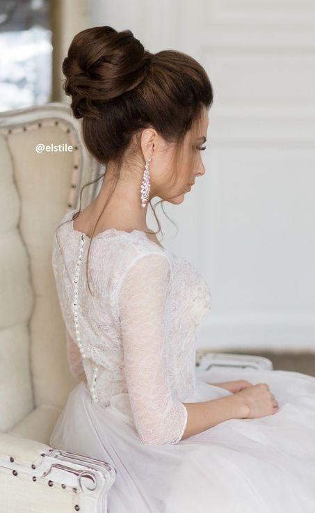 Featured Wedding Hairstyle:Elstile;www.elstile.ru; Wedding hairstyle idea.