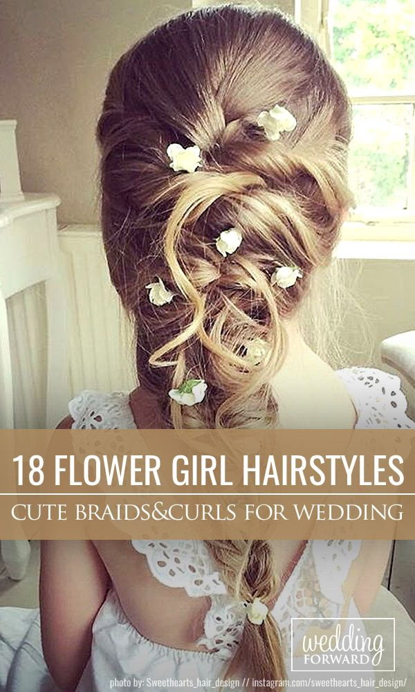 18 Cute Flower Girl Hairstyles ❤ Here you find some simple flower girl hairsty...